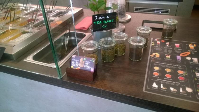 Closeup of the Lemoncha counter