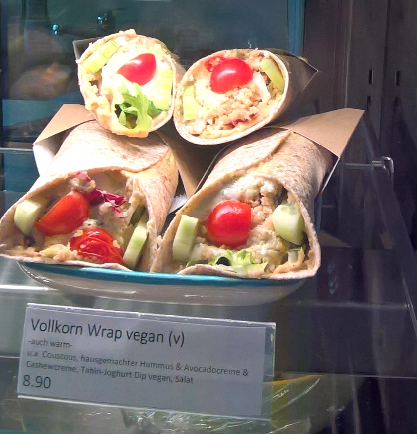 Vegan wraps on offer at Klara's kitchen