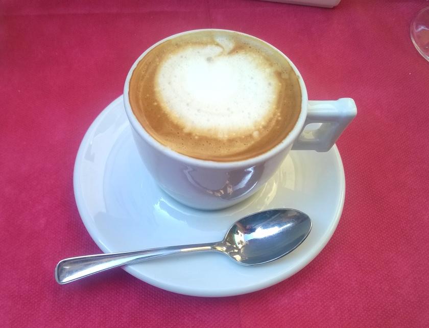 Soy cappuccino at hotel Malibran