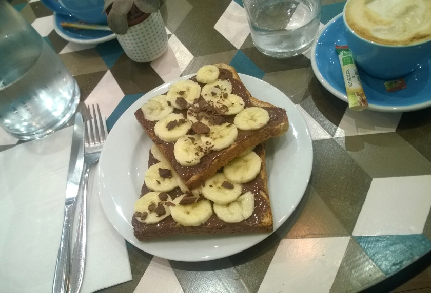 Peanutbutter-banana toast at Cloudcakes