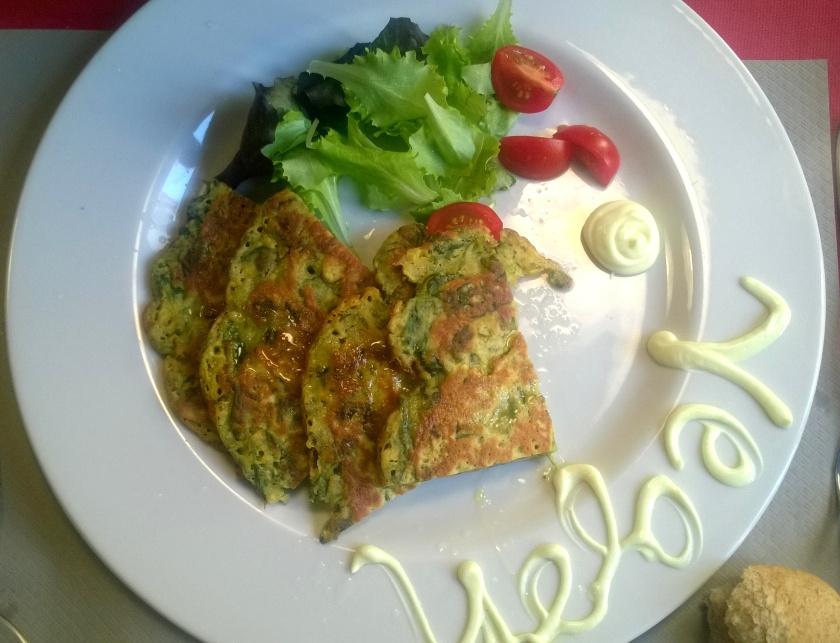 Chick pea omelette at la Tecia Vegana