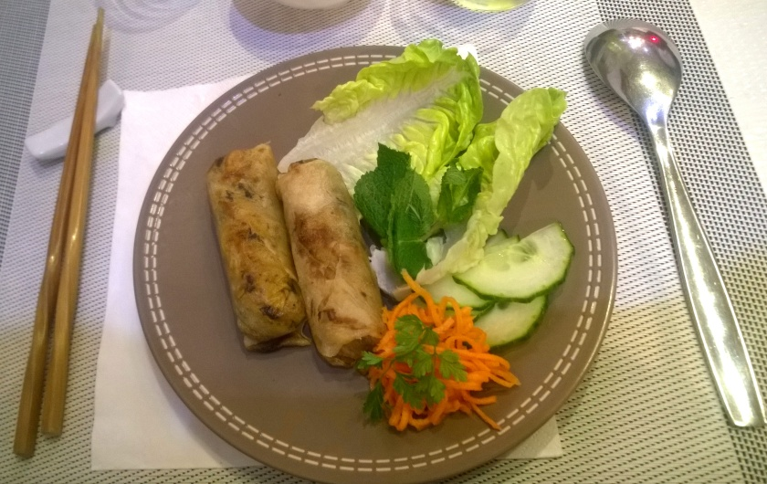 Vegan nems at Vietnam in Paris