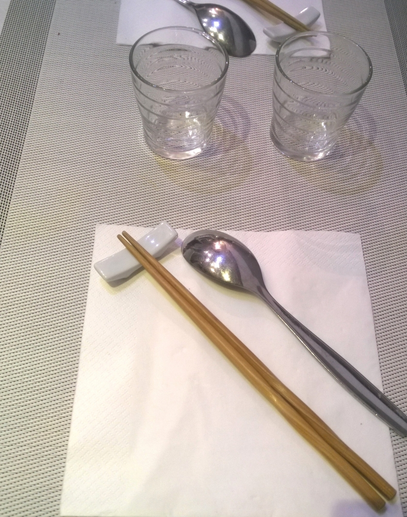 Table setting at Vietnam in Paris