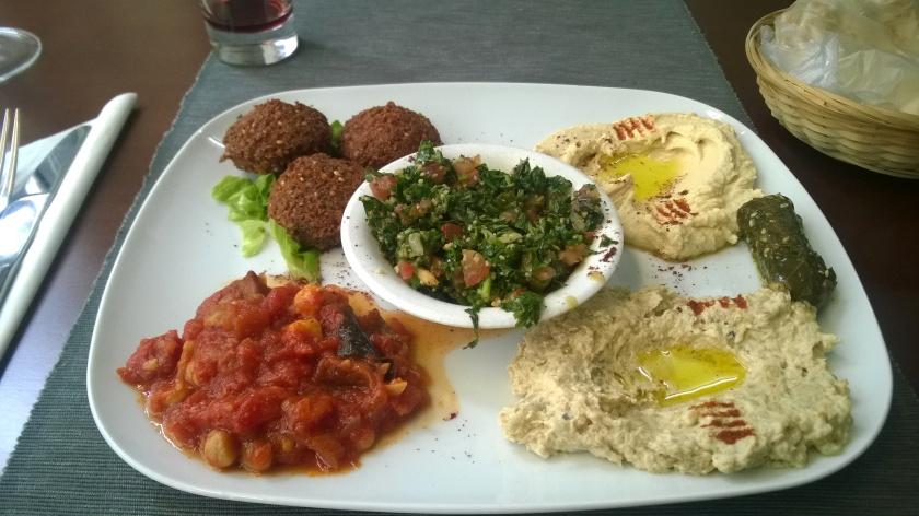 Vegan mezze at le cedres du liban