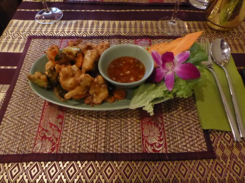 Thod pak at Chiang Mai Thai