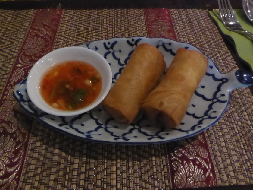 Spring rolls at Chiang Mai Thai