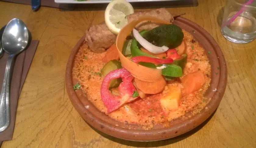 Couscous dish at Grenier de Notre-Dame