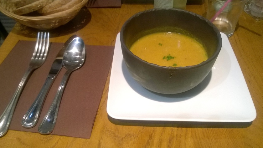 Vegetable soup at le Grenier de Notre-Dame
