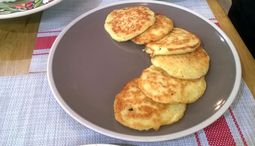 Derynu or potato pancakes at Pan Karpat