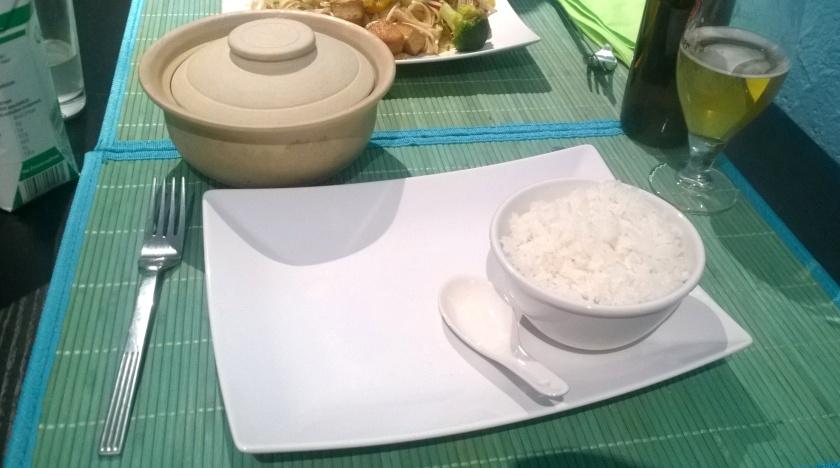 Tofu with caramel sauce at Saigon pearl
