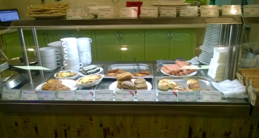 Part of the buffet at eco buffet