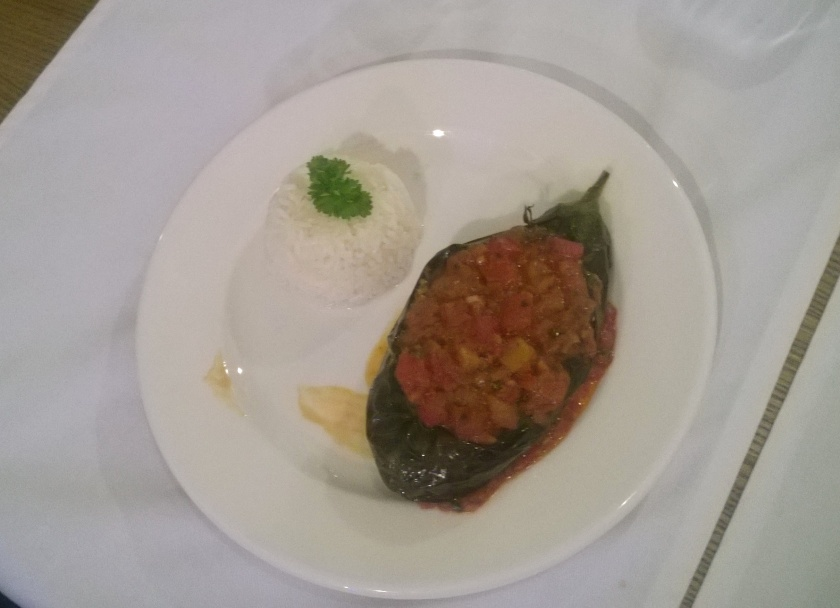 Stuffed aubergine at Musafir