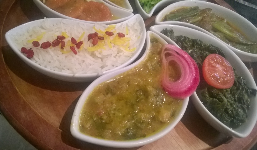 Close-up of main course at Kutchi