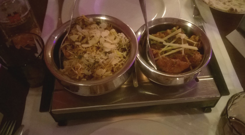 Biryani and aloo gobi at Swagat