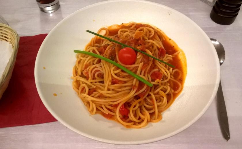 Spaghetti Napolitaine at Amici Miei