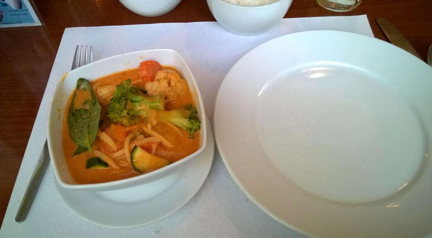Red curry with vegetables at Supatra