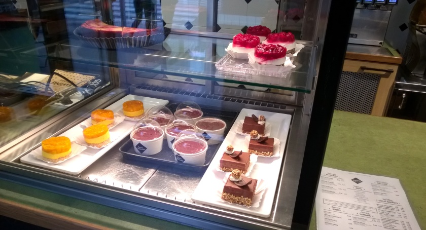 Desserts display at Swing Kitchen