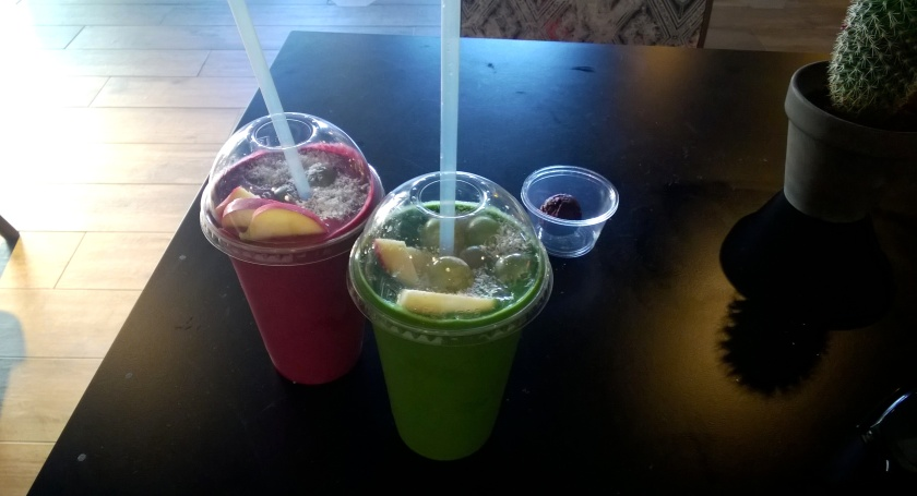 Smoothies at Green Gorilla