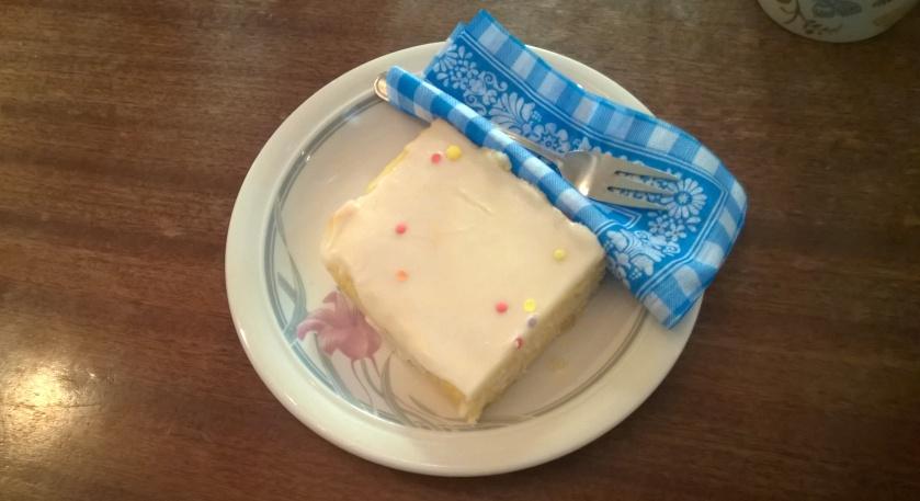Vegan cake at Vollpension