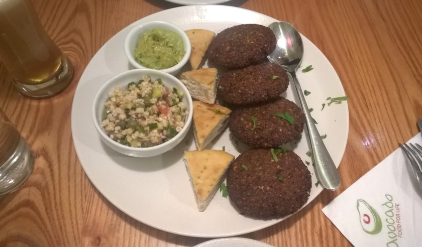 Falafel plate at Avocado