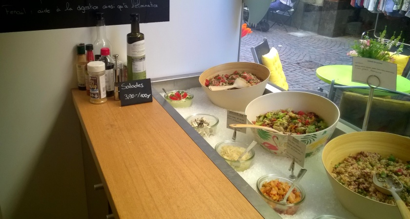 Salad bar at N&Co