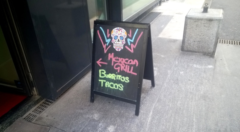 Sign outside Taco Rico
