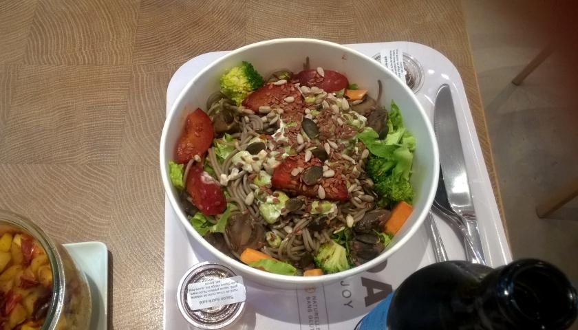 Noodle salad at Takinoa