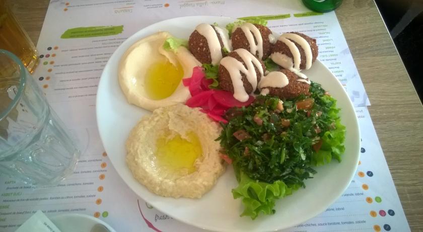 Falafel platter at Street Beirut