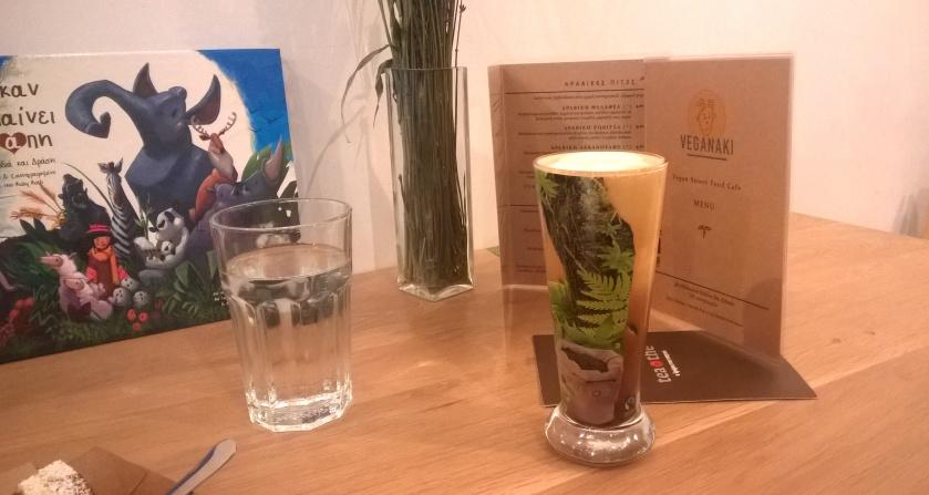 Freddo cappuccino at Veganaki