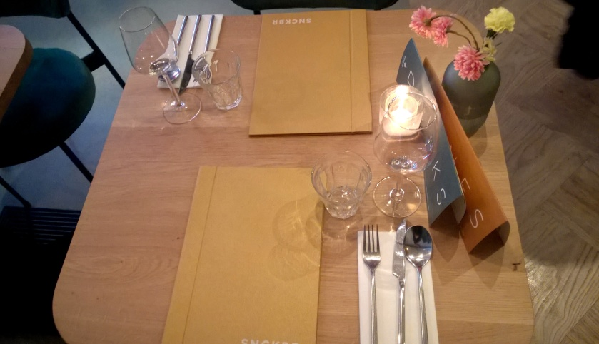 Table at SNCKBR/Wakuwaku