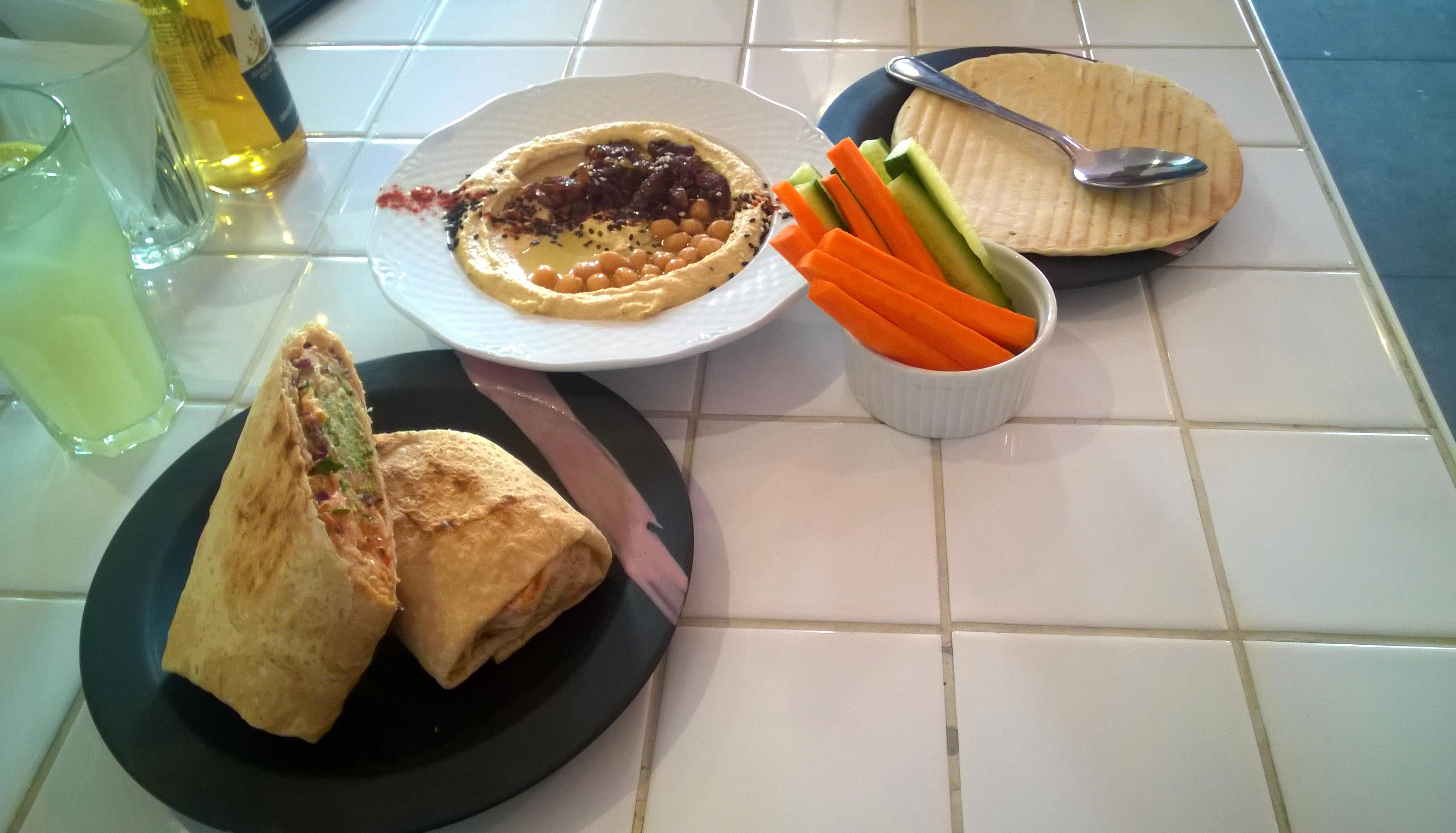 Hummus and roll at Hum:Hum