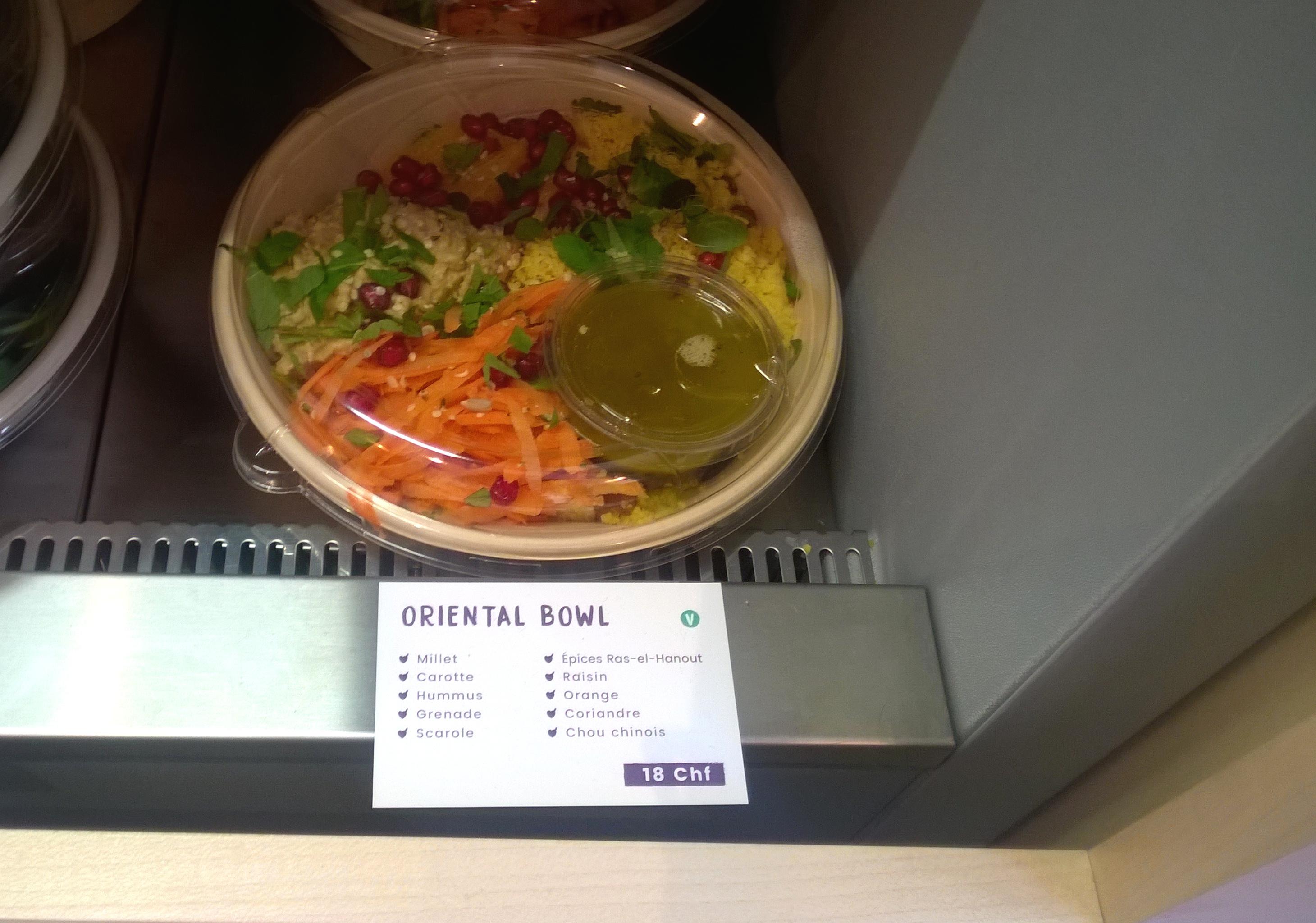 Vegan bowl at Valya