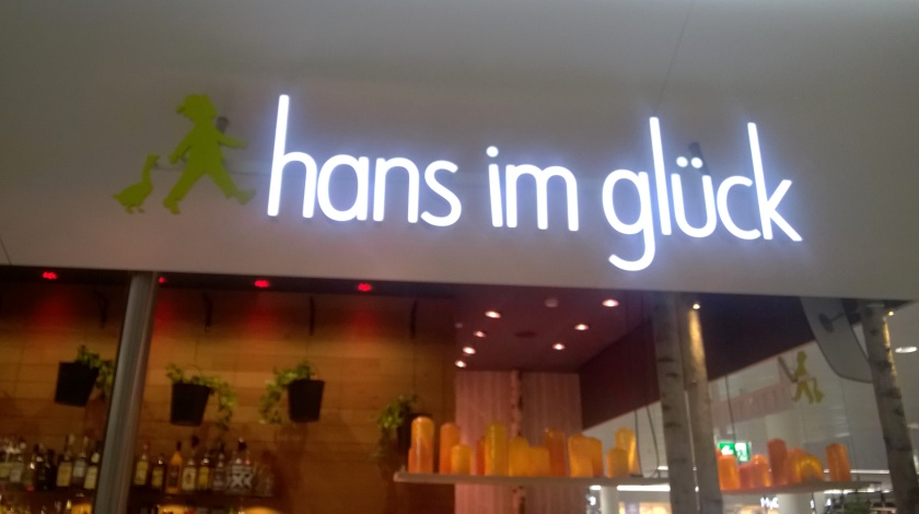 Sign at Hans im Gluck at Munich Airport